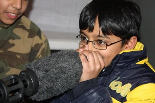 Using the shotgun microphone