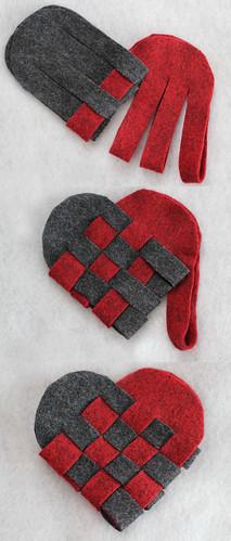 Weaving Danish Hearts