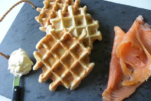 Gaufres salées au sarrasin / Salted Buckwheat Waffles