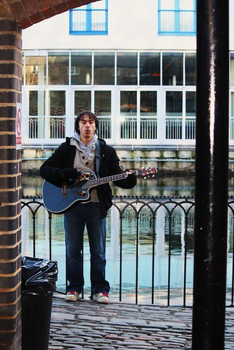 Singing on Camden Canal