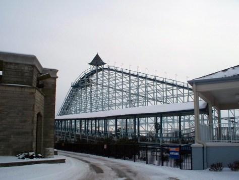 Cedar Point - Off-Season Blue Streak
