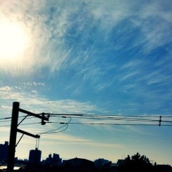 ( ^ω^)( -ω-)( _ _)おはよ!イイ天気になりそう!