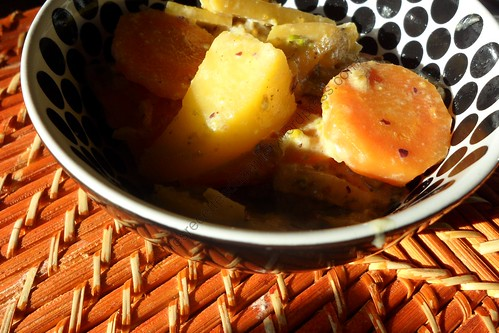 Rutabagas aux carottes et à la crème / Rutabagas with carrots and cream