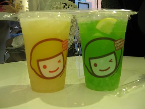 L-R: Lemon Yoghurt with Aloe, Lemon Peppermint with Nata de Coco