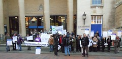 Shire Hall protesters