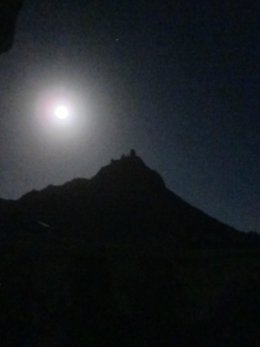 Full moon over Mount Manaia