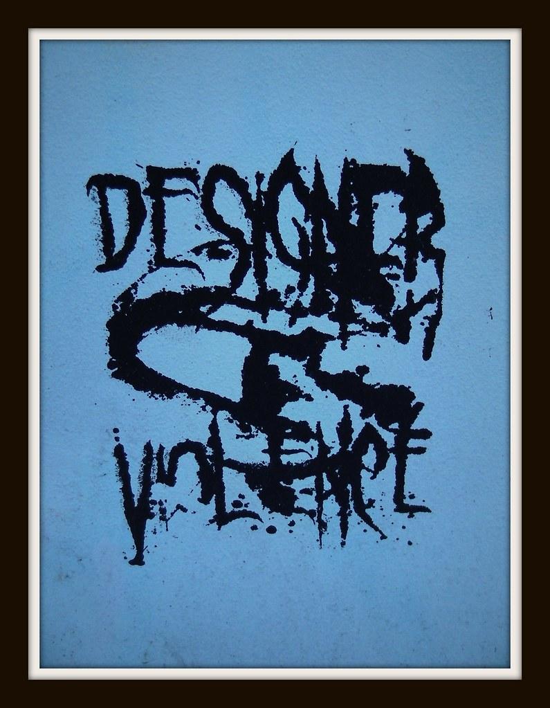 Wintry graffiti in Roath-Deisgner Violence