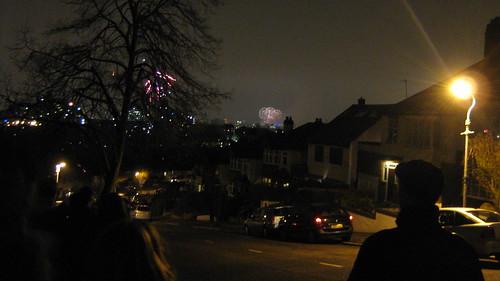 fireworks across london