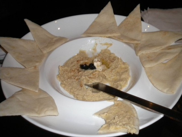 My first hummus in months!