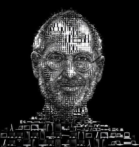Steve Jobs 2011 (black) / Charis Tsevis