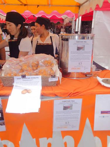 Dulwich Hill Street Fair: East African donuts, Tibetan tea