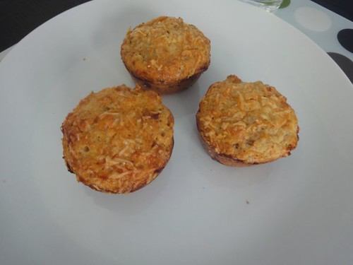 Sundried tomato and corn, mushroom and thyme, potato and rosemary muffins