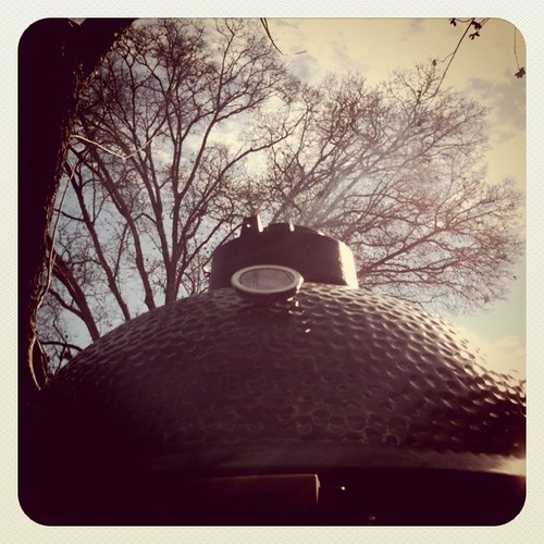 My Big Green Egg on a Crisp January Morning