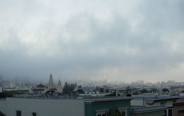 January sky over San Francisco