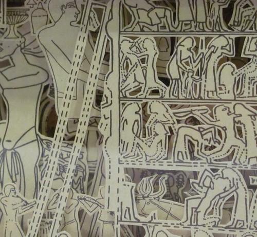 Etsy hokeystokes Book Carving Los Egipcios 3 by Julia Field $150