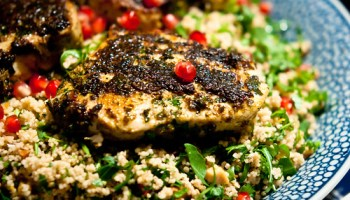 Albacore tuna in chermoula, with