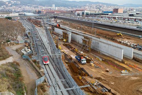 Zona estació de Sant Andreu - ELEVADO - NORTE- 31-01-11