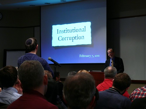 Lawrence Lessig presents on Institutional Corruption