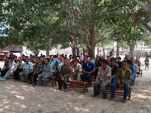 Remote village in Atsaphone, Laos gather to greet us