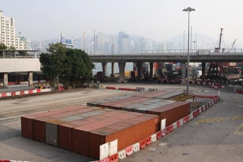 MTR freight yard at Hung Hom