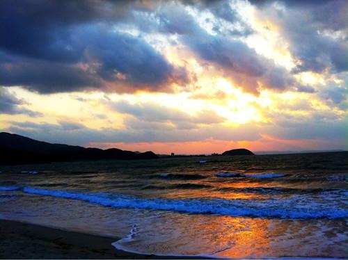 El Pacífico estaba muy pacífico esta tarde