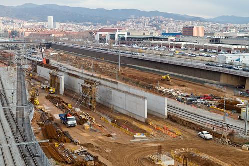 Zona estació de Sant Andreu - ELEVADO - NORTE - 31-01-11