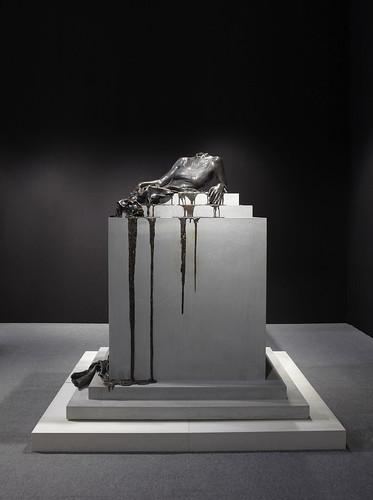 """""""In Mortal Repose"""" sculpture by Diana Al Hadid"""