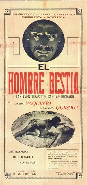 Poster original de El Hombre Bestia (1934)