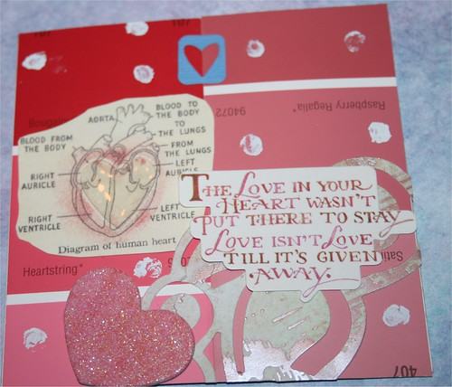 "Love in your Heart 4"" x 4"" Collage card"