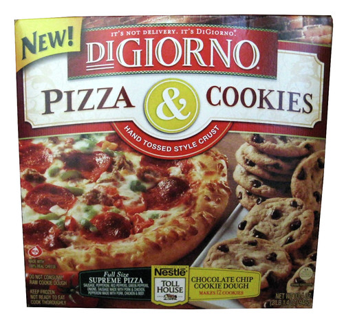 REVIEW: DiGiorno Pizza & Cookies Supreme Pizza and Nestle Toll House Chocolate Chip Cookie Dough
