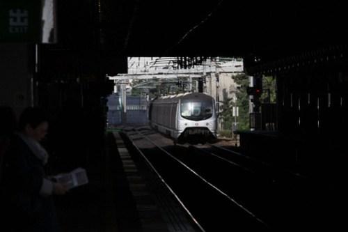 Metro Cammell EMU arrives into Sha Tin station