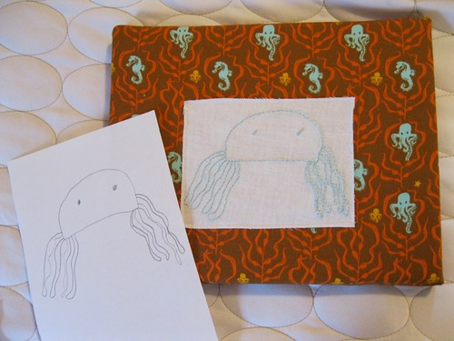 art to embroidery: octopus