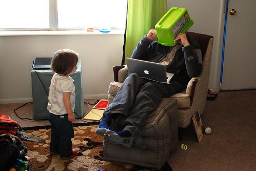 Fun with grandpa.