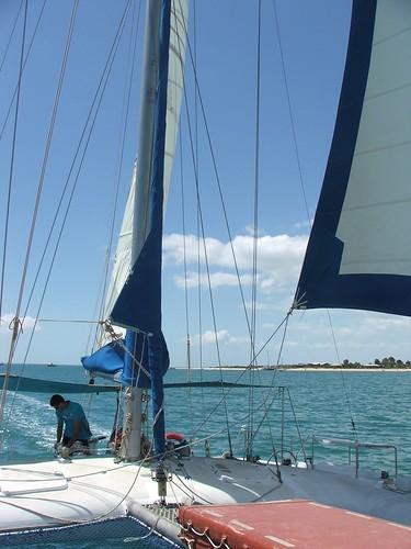 Sailboat on Shark Bay