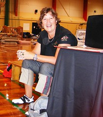 Lynette Griffiths about to start StoryTIme at the Pioneer Leisure Center welfare centre