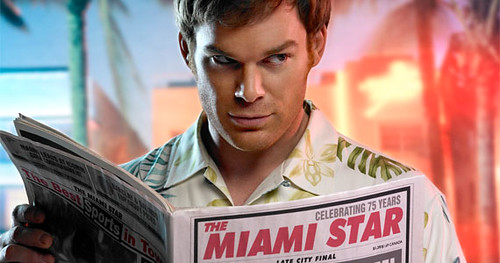 Dexter Reading The Miami Star Newspaper Showtime TV Show