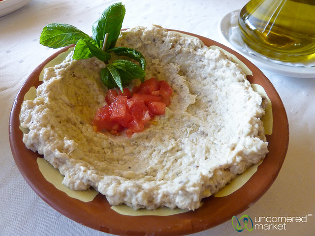 Aubergine-Garlic Dip (Moutabel)
