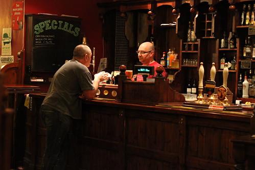 Kev at the bar