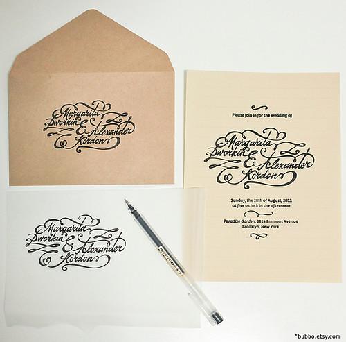 lettering into letterpress / invitation
