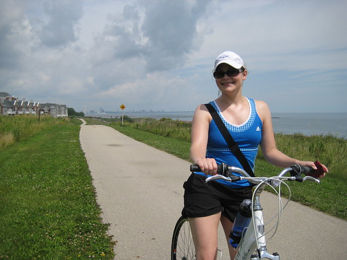 biking along lake michigan