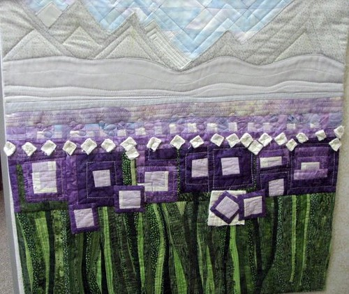 Salvaging gingham fabric from vintage quilt by Journeys Art Quilt Group