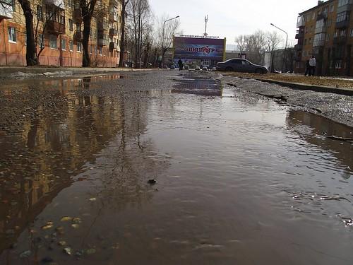 Город Красноярск весной