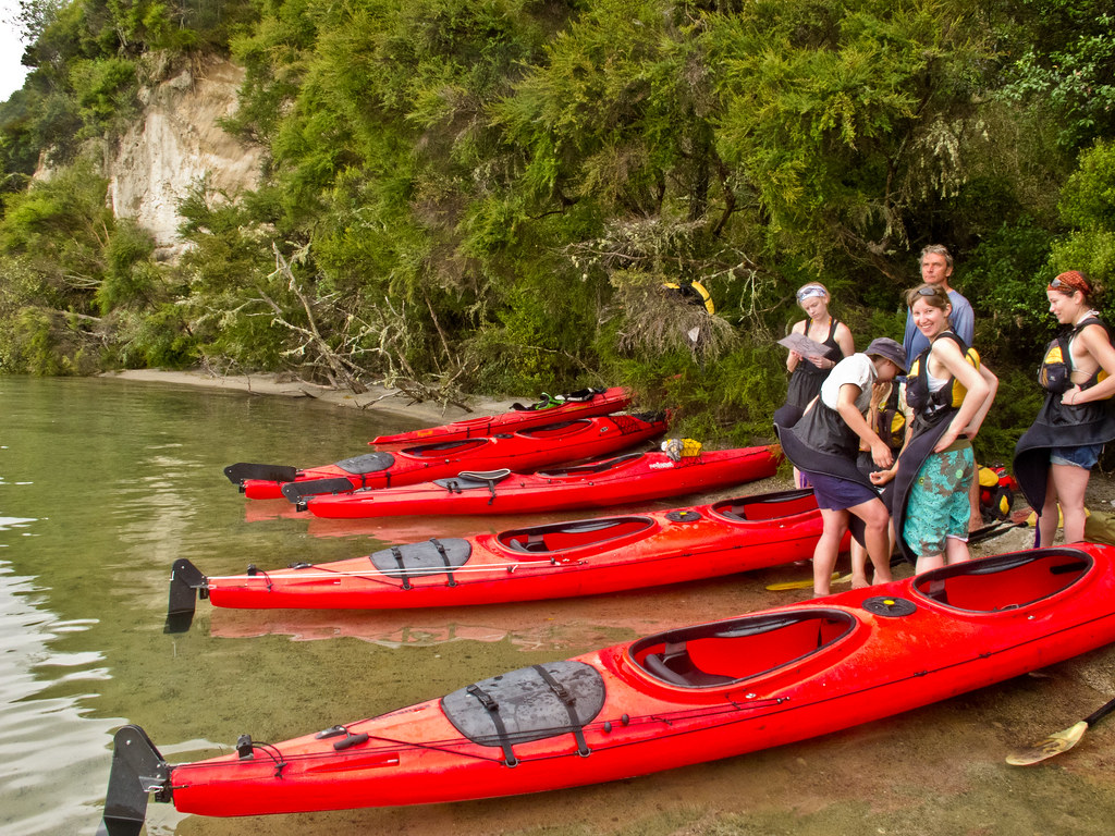 Kayaking on Lake Tarawera