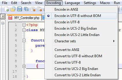 UTF-8 without BOM