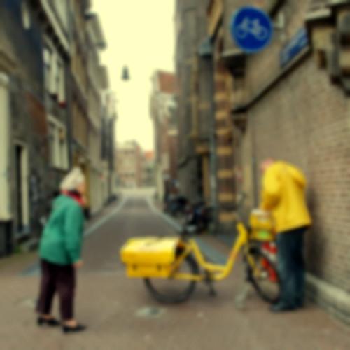 yellow mailman @ Amsterdam
