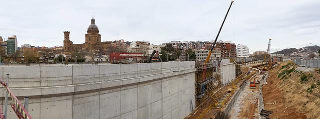 Panorámica estació de Sant Andreu - Norte - 22-02-11