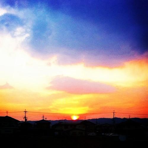 夕陽を追いかけて! 今日も一日、お疲れ様でした。#evening