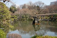 日比谷公園(雲形池と鶴の噴水)