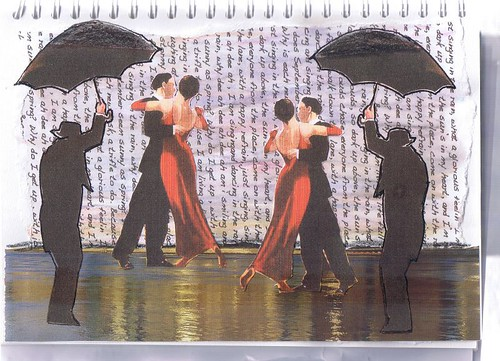 art journal-singing in the rain