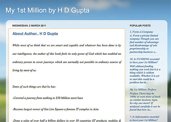 H D Gupta's Blog